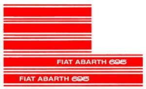 Vehicle sticker ABARTH 695 Fiat 500