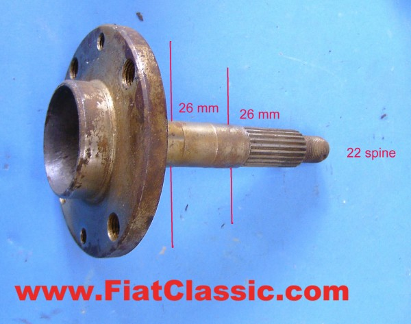 Wheel bearing axle (2x26 mm) Fiat 500 Giardiniera - Fiat 600