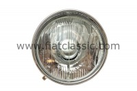 Headlamp with chrome ring Fiat 500