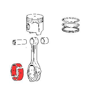 Pleuellagerschalen Übermaß 0.2 mm Fiat 600