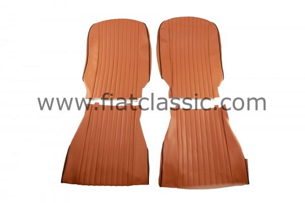 Seat covers luxury ochre front and rear Fiat 500 L