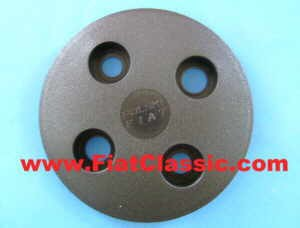 Cover for wheel hub black Fiat 500 - Fiat 126 (2nd series) - Fiat 600