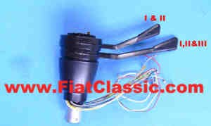 Steering column switch 3 positions black Fiat 500