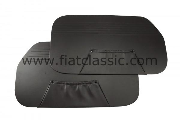 Deurpanelen zwart (1 gat) Fiat 600