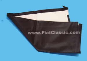 Folding roof cloth black completely sewn Fiat 600