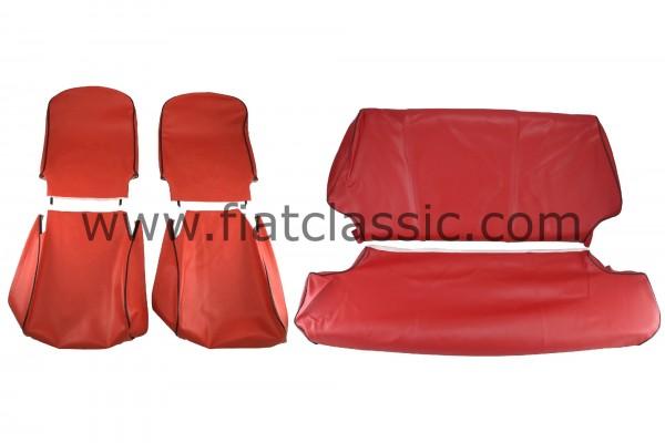 Housses de siège avant et arrière rouges Fiat 500 R