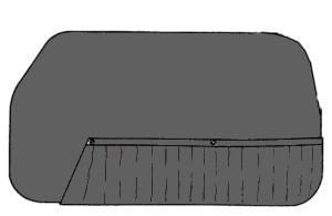 Pannelli porta Fiat 600 nero, Zastava 750