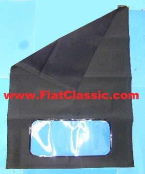 Toiles de toit pliantes Trasformabile noir Fiat 500 Bianchina