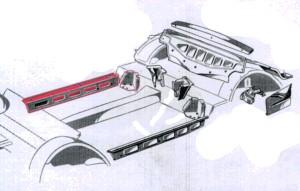 Innenschweller rechts Berlina & Cabriolet Fiat 500 Bianchina