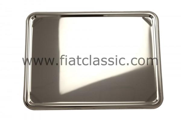 Support de plaque d'immatriculation arrière en acier inoxydable 280 x 200 mm - Fiat 126 - Fiat 500 - Fiat 600