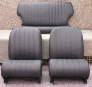 Seat covers in black (Set) Fiat 126