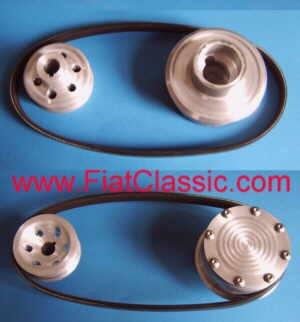 Kit di conversione alternatore trifase a cinghia trapezoidale Fiat 126 - Fiat 500