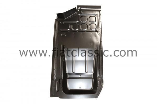 Bodemplaat links incl. rails en zadelpennen Fiat 126 - Fiat 500