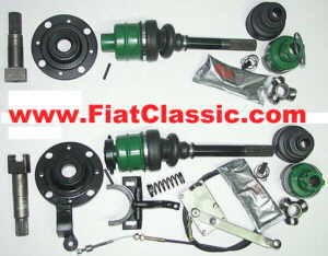 Limited slip differential with tripod drive Fiat 500