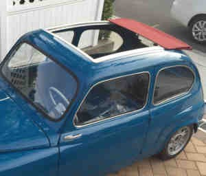 Folding sunroof complete Fiat 600
