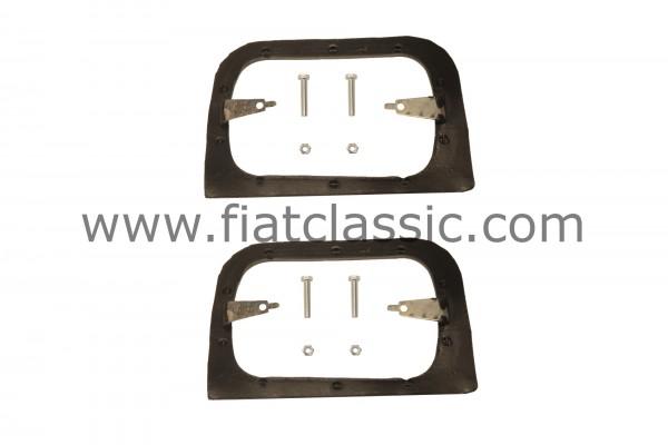 Supporto telaio faro in gomma/metallo (coppia) Fiat 126