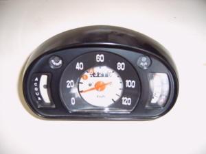 Snelheidsmeter gebruikt zwart Fiat 600