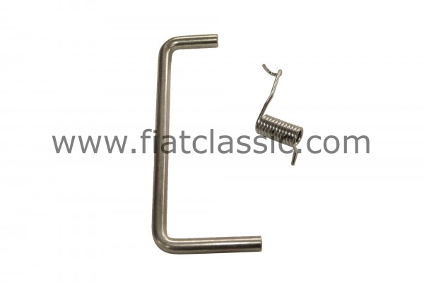 Spring & Bracket for boot Fiat 500