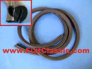 Door rubber Trasformabile front Fiat 500 Bianchina