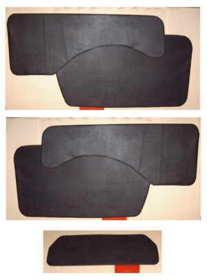 Door panel red pair Fiat 500 N/D/Giardiniera