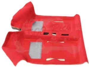 Teppichboden rot mit Hackenschoner (2x) Fiat 600