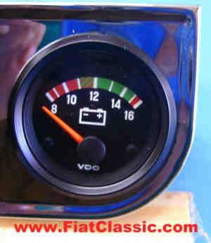 Voltmeter 8-16V Fiat 126 - Fiat 500 - Fiat 600