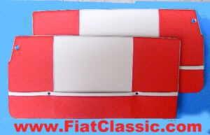 Deurpaneel Trasformabile rood/witte Fiat 500 Bianchina