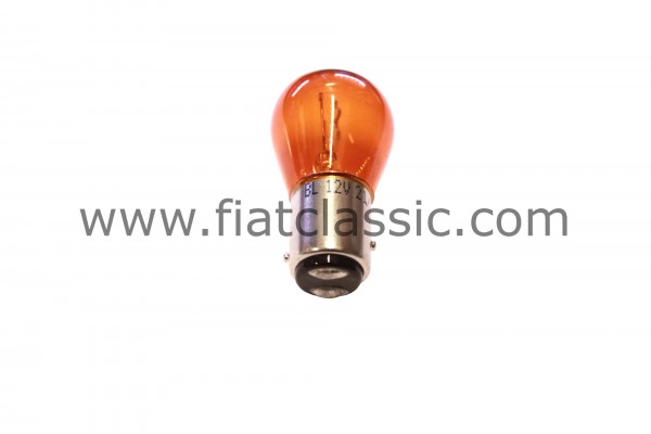 Bulb for indicator yellow (two contacts) Fiat 500