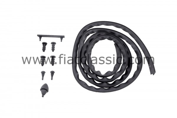 Complete set of rubber for boot pan Fiat 500