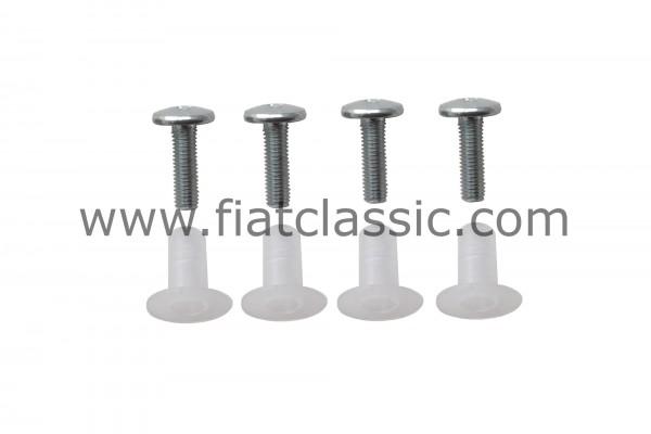 Schraubenset für Ausstellfenster Fiat 126 - Fiat 500 - Fiat 600