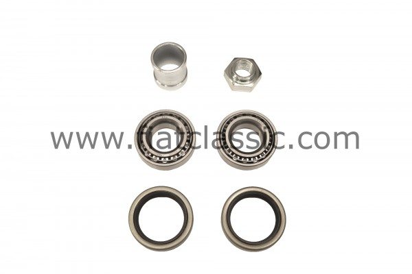 Wheel bearing set rear incl. spacer bush and nut (one side) Fiat 126 - Fiat 500 - Fiat 600