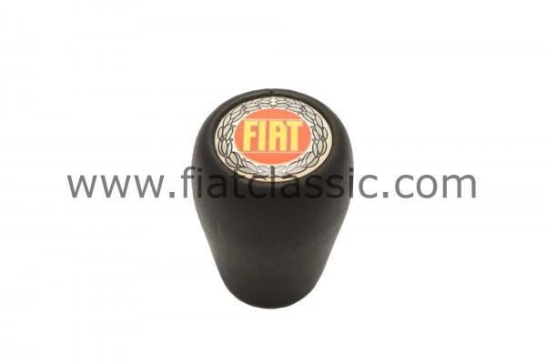 Pommeau de vitesse noir avec logo Fiat 126 - Fiat 500 - Fiat 600