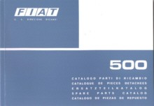 Spare parts book technology/body Fiat 500 F/L/R