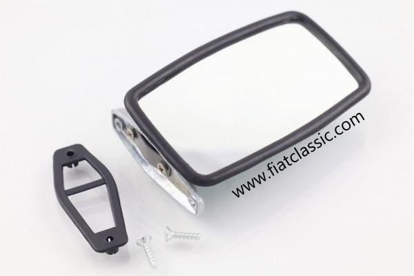 Spiegel matt chrom 76 mm Fiat 126 - Fiat 500 - Fiat 600
