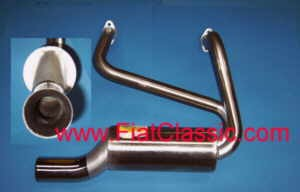 Sport exhaust stainless steel Fiat 500 F/L