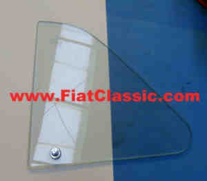 Opening window glass left with holder Fiat 500