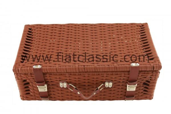 Valigia/cestino da picnic in plastica intrecciata Fiat 126 - Fiat 500 - Fiat 600