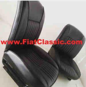 Sitzbezüge schwarz Vignale Gamine Fiat 500