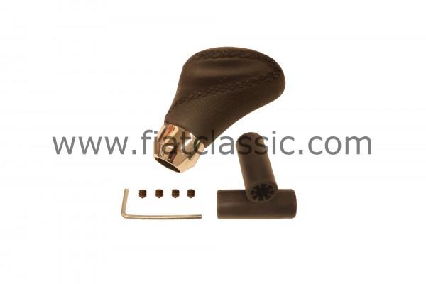 Schaltknauf Leder schwarz Fiat 126 - Fiat 500 - Fiat 600