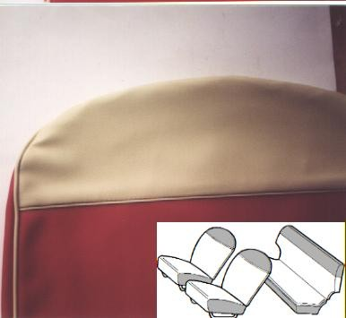 Seat covers red/white Fiat 500 N/D