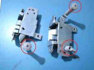 Knopf für Türschloss (3x) Fiat 600 Multipla