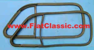 Rubber for hinged window frame (in pairs) Fiat 500 N