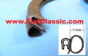 Türgummi (d=11mm) lfd. Meter Fiat 126 - Fiat 500 - Fiat 600