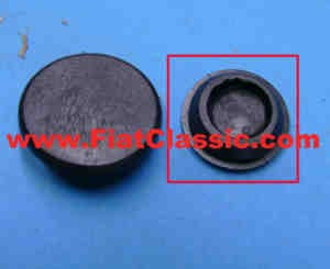 Rubber plug for engine compartment Fiat 500