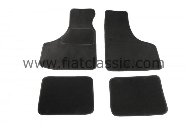 Floor mats (set) black Fiat 126 - Fiat 500 - Fiat 600