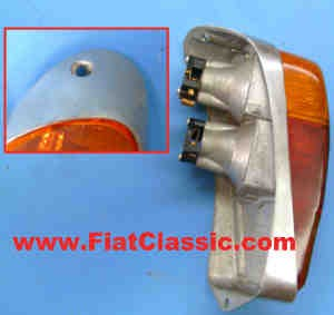 Taillight right Aluminium Fiat 600