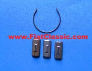 Jeu de coulisseaux (3x + ressort) Fiat 126 - Fiat 500