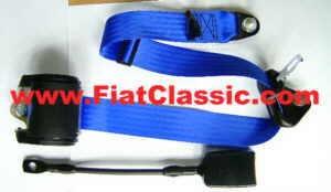 3-Punkt Automatik-Sicherheitsgurt in blau Fiat 500 - Fiat 126 (1. Serie) - Fiat 600