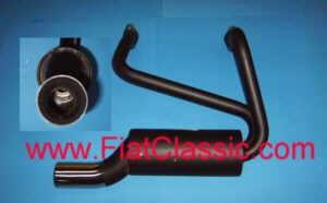 Sportauspuff Einrohr Fiat 500 F/L