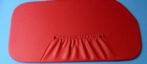 Deurpanelen rood (1 gat) Fiat 600